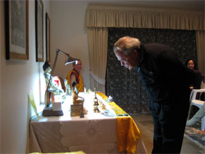 Father Johan viewing Relics