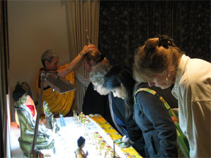 Visitors viewing Relics at SCA