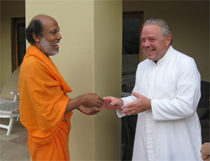 Swami Suddhananda & Father Johan