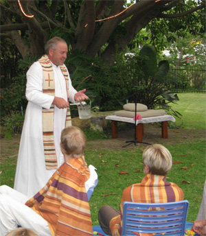 Blessing Ceremony by Father Johan